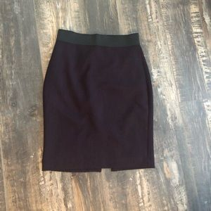 EXPRESS plum pencil skirt with spandex band